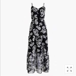 NWT: J. Crew sz 2 Black & white maxi floral dress